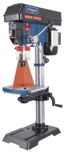 SCHEPPACH SET DP18VARIO   Tischbohrmaschine   Bohrmaschine   Gusseisenkonstruktion   Inkl. Schraubstock   550 Watt   LED Licht   Positionslaser