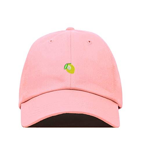 Lemon Emoji Baseball Cap Embroidered Cotton Adjustable Dad Hat