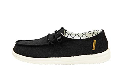 Hey Dude Wendy Youth Linen Black, Size 1