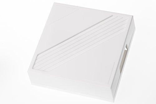 HUBER Zweiklang Gong Klingel Mechanisch für die Haustür I Mechanische Türklingel Haus Tür I Türgong Trafobetrieben 75 dB(A), Doorbell 8V-12V