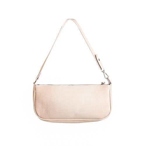 2020 neues Desig High Fashion Frauen Handtasche Baguette Bag,Vintage Krokoprägung Baguette Bag, Damen Schultertasche,Baguette Umhängetasche,Bella Hadid Lieblingstasche (hellrosa)