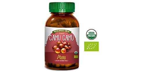 Camu camu Capsules - 100 Pills * 500 mg - Organic Supplement - Vitamin C - Vegan - Amazon Andes