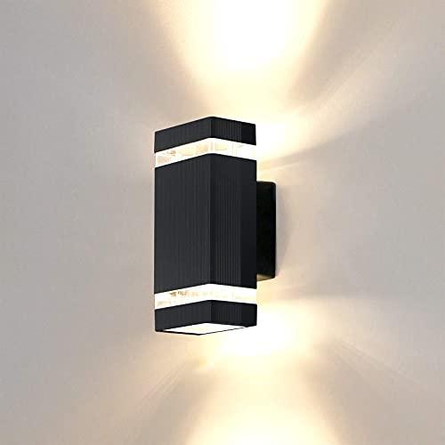 HORKEY Aplique de Pared Exterior 5W 3000k LED Lampara de Pared, Luz de Arriba y Abajo , Cuerpo en Aluminio Lámparas Pared Vintage...