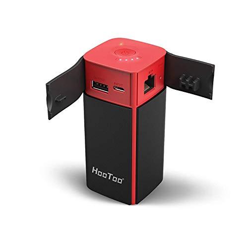 HooToo FileHub, Wireless Travel Router, 10400mAh External Battery, USB Port, High Performance Travel...