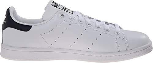 adidas Baskets Basses pour Adultes (Unisexe) - Stan Smith Originals - Blanc - Chalk White/Chalk White/Dark Blue, 54 2/3 D(M) EU