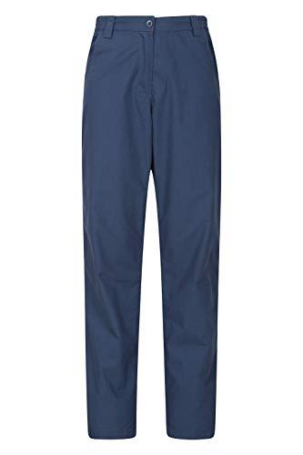 Mountain Warehouse Quest Pantalones para Mujer - Ligeros, de Verano, Transpirables, Ropa de fácil Cuidado para Exteriores - Lo Mejor para Caminar, Viajes, Senderismo Azul Marino 36