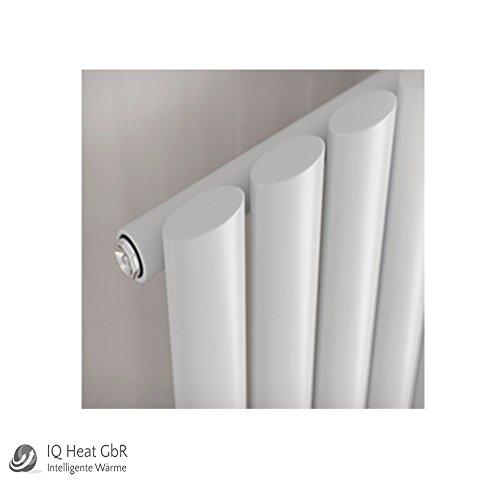 Design Paneelheizkörper einlagig Forte weiss - Vertikal Heizwand Heizkörper Badheizkörper (H 1800 mm x B 236 mm)