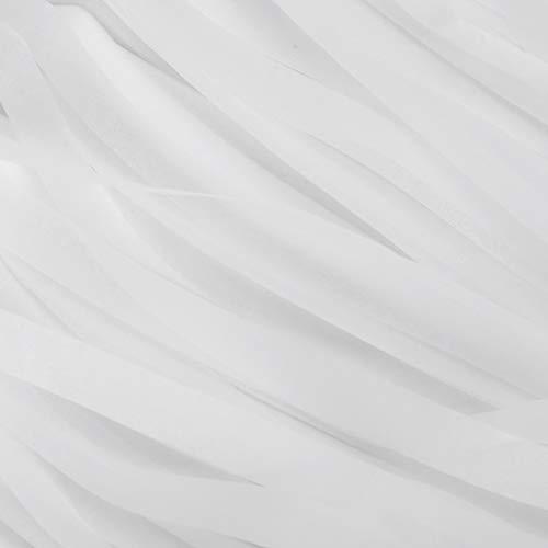 Pancarta de borlas, decoraciones para fiestas Guirnalda de borlas con cuerda para fiestas de compromiso, recepciones de boda(white)
