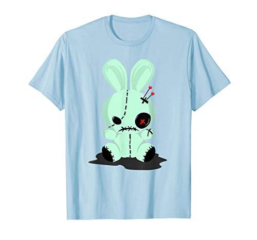 Pastel Goth Tshirts, Green Voodoo Doll Shirt For Teens