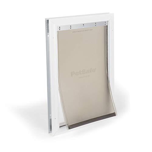 PetSafe Freedom Aluminum Pet Door for Dogs, Large, White, Tinted Vinyl Flap