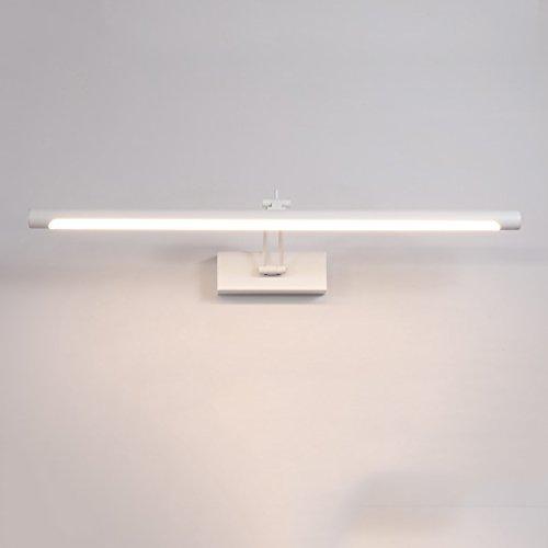 Lámpara Espejo LED Luces delanteras Baño moderno Cuarto de baño Espejo de luz Espejo Gabinete Lámpara especial Lámpara de niebla impermeable Luces de baño (Color : White light)