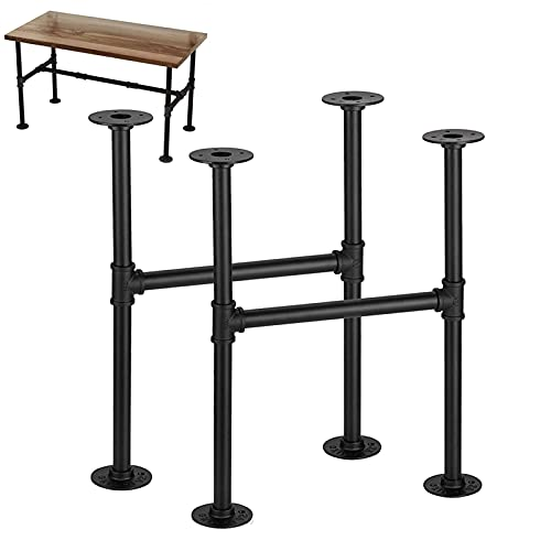 LYBC Patas de Mesa de Metal Patas de Muebles Industriales,Patas de Mesa de Comedor,Carga 150KG,Patas de Mesa de Centro de Hierro para Bricolaje,1 Par(2 Piezas) (Size : W48xH70cm(W19xH27.6inch))