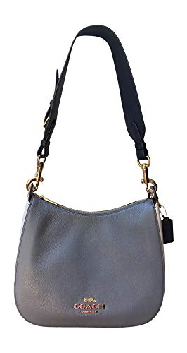 Price comparison product image Coach Leather Colorblock Jes Hobo Shoulder Bag,  Heather Grey / Chalk / Multi