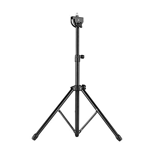Muslady Drum Pad Soporte Metálico Tornillo de 8 mm Conector 46cm-79cm Altura Ajustable para 8-10 Pulgadas Pad de Práctica de Batería con Bolsa de Transporte