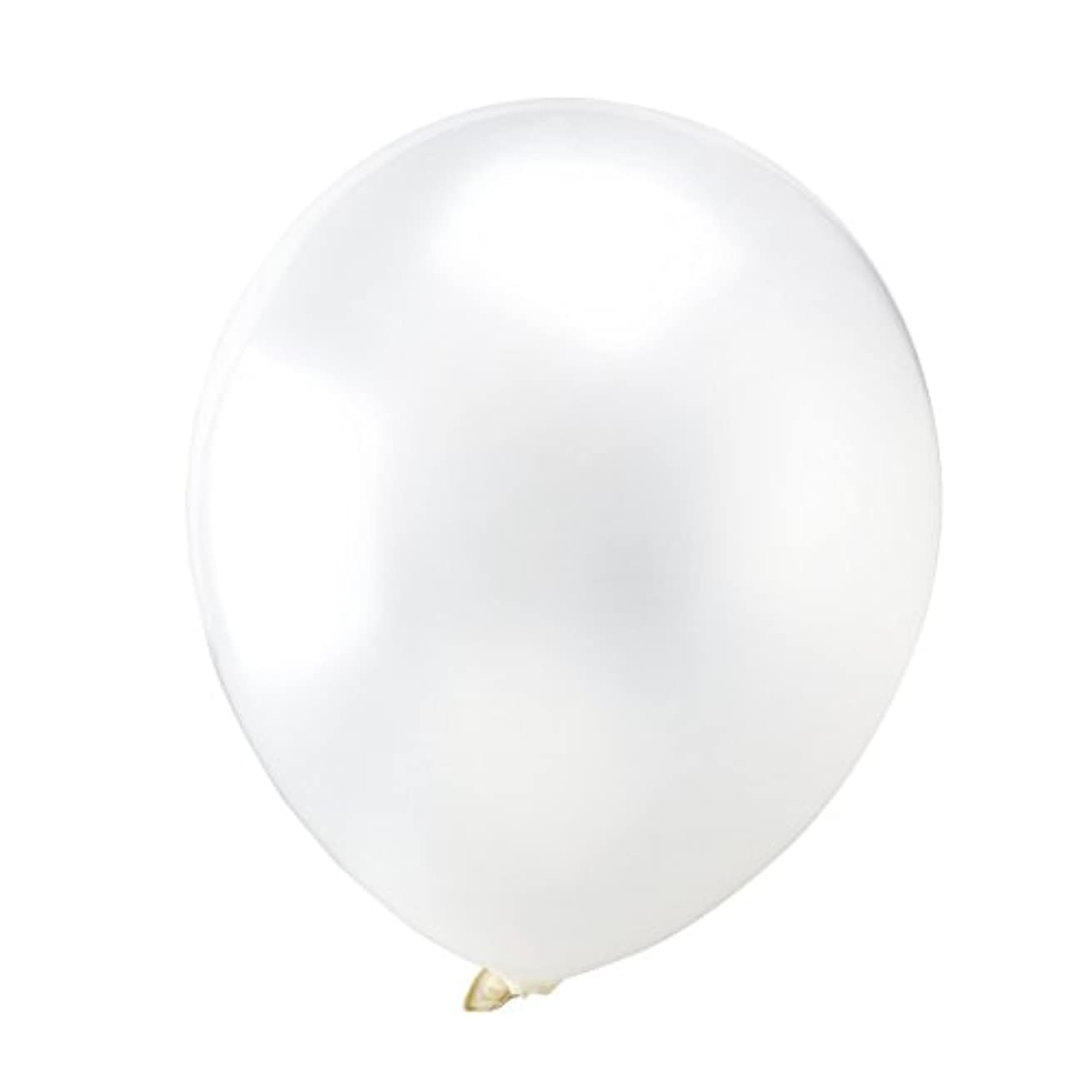 OULII White Latex Metallic Balloons, 12 Inch, Pack of 100