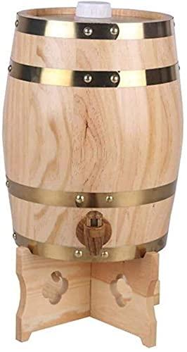 Casual Madera Barril 5L / 10L / 15L / 20L / 30L / 50L Grifo Cerveza Licor Whisky Jugos Cañones Bebidas Dispensador Hogar MUMUJIN (Color : B, Size : 5L)