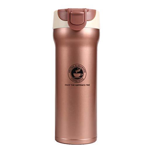 XIYUNTE reisbeker roestvrij staal waterfles - 500 ml lekvrij koffiemok dubbelwandig vacuüm-geïsoleerde beker, BPA-vrij drinkflessen, houdt warm / koud