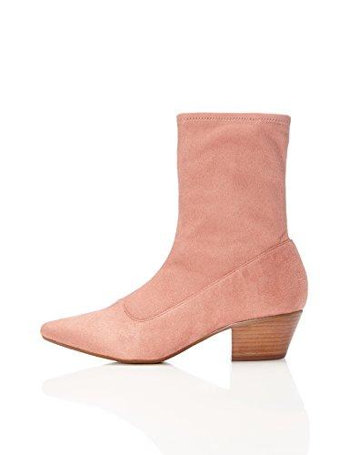 find. Stiefel Damen geschlossen mit Wildleder-Optik , Pink (Rose), 39 EU