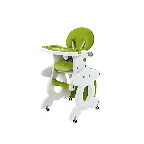 Find Bargain ZXQZ Baby High Chair, Green Multi-Function Baby Chair Portable Combination Plastic Chil...