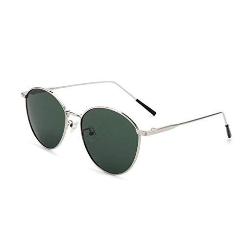 WSDSX Gafas de sol con montura metálica retro para mujer, gafas de sol polarizadas al aire libre con montura de protección UV400, ideal para ciclismo, pesca, correr, verde