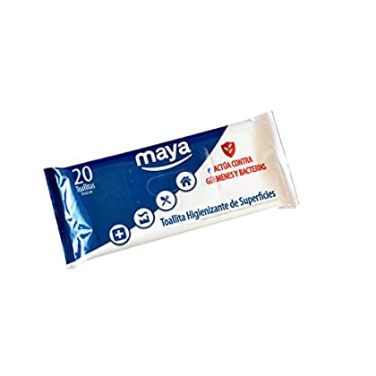 Maya Pack 20 uds Toallitas Higienizantes de superfícies DDX