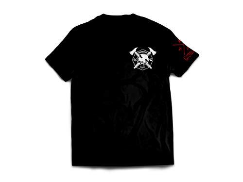 CrossFire Camiseta de Bomberos de la Comunidad de Madrid de Hombre de la Marca (Negro, M)
