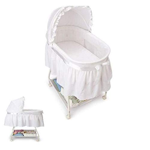 Best Price Portable Child Bassinet Infant Sleeper Nursery Newborn Crib Canopy Basket White
