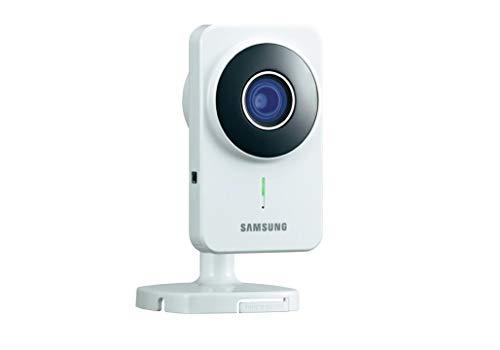 Samsung IP-Cam SNH-1011 Videocamera di Sorveglianza, WLAN, Bianco