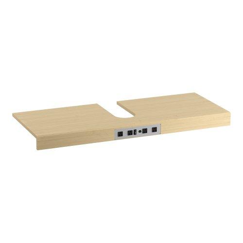 KOHLER K-99678-SH4-1WR Adjustable Shelf with Electrical Outlets for KOHLER K-48-Inch Tailored Vanities with 2 Doors, Natural Maple