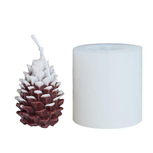 Molde de silicona con forma de piña, manual de aromaterapia, para manualidades, 6,5 7,1 cm / 2,56 2,80 pulgadas