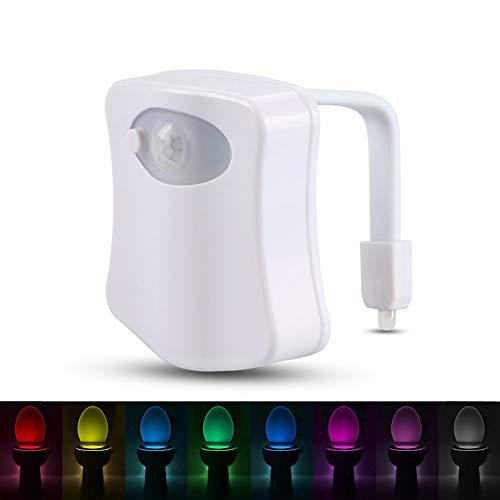 Bewegingsmelder, nachtlampje, wc-bril, nachtlampje, 8 kleuren, waterdichte lamp voor toilet bowl LED Luminaria toilet toilet toilet toilet toilet hygiënisch licht