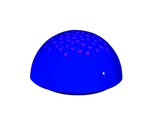 Reality, Lampe de table, Sirius incl. 1 x LED,SMD,0,5 Watt,--- Corps: Plastique, Bleu Ø:13,6cm, H:8,0cm IP20,Changement de couleur RGB,Interrupteur tactile 4 niveaux,Fonctionnement sur batterie