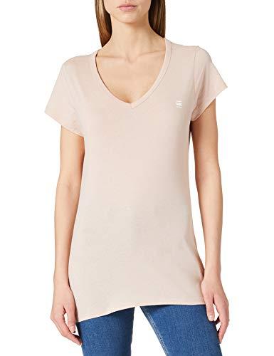 G-STAR RAW Mens Eyben Slim V-Neck T-Shirt, Liquid pink 2757-1628, M