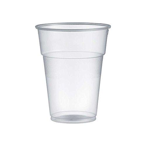 300 vasos de plástico de 400 ml para agua, cerveza, cócteles, granito, Frappe' de plástico rígido