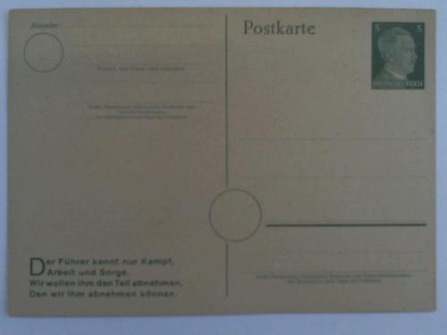 Fünf-Pfennig Hitler-Postkarte (Blanko)