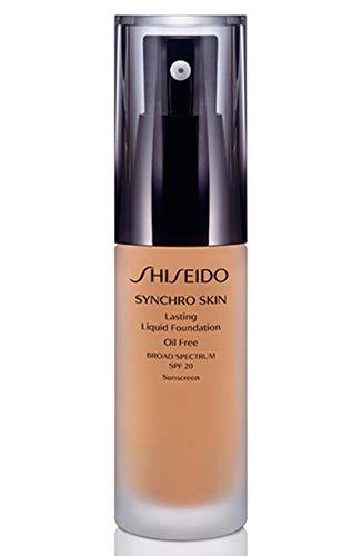 Shiseido SPF 20 Synchro Skin Lasting Liquid Foundation, Golden 2,...