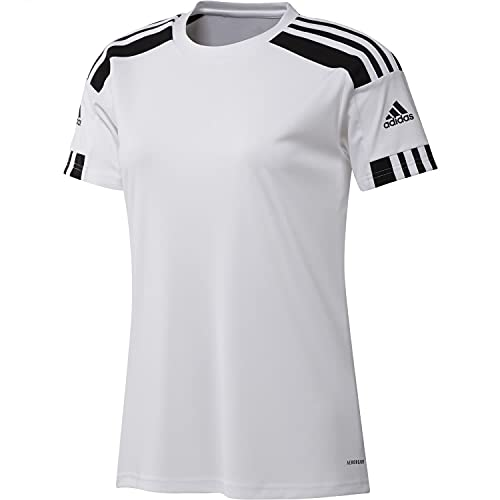 adidas Squad 21 JSY W Damen-T-Shirt, Damen, T-Shirts, GN5753, Weiß/Schwarz, L