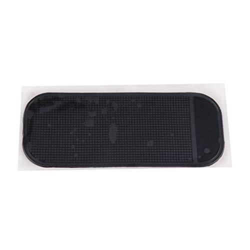 PRENKIN Schwarz Rechteck-Auto-Dekoration Handy-Tablette Anti-Rutsch-Matte Ornament Platz PU-Auflage