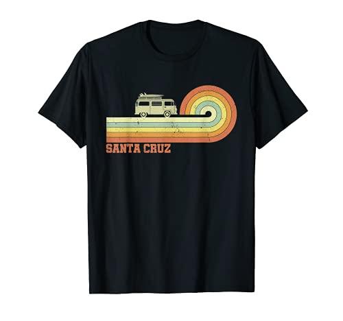 Santa Cruz Retro Vintage T Shirt 70s Surf Tee -  70s 80s CA Santa