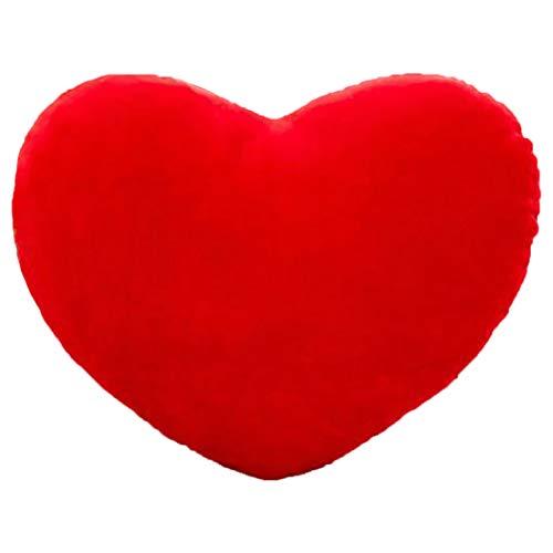 JUSTDOLIFE Valentijnskussen romantisch hartvormig pluche sofa autokussen bank kussensloop Small Red S