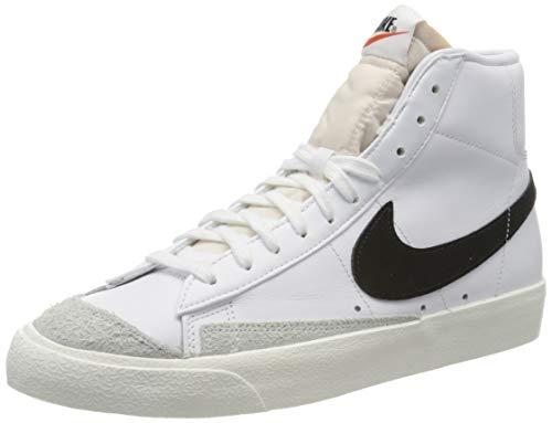 Nike Blazer Mid '77 VNTG  Zapatillas de Baloncesto Hombre  Blanco (White/Black 000)  41 EU