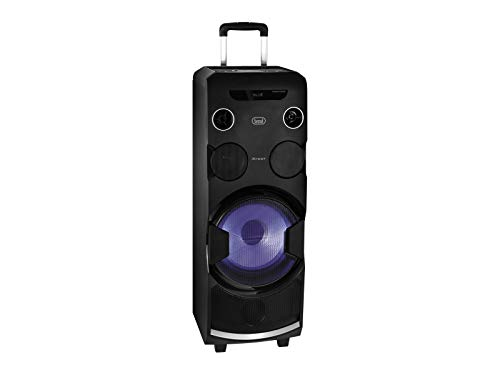 Trevi Xfest Xf 1750 Kb Altoparlante Amplificato Portatile con Trolley e Ruote Posteriori, Mp3, USB, SD, Aux-In, Batteria Integrata, Karaoke Party Spea