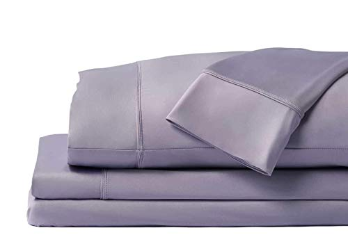 SHEEX Original Performance Sheet Set with 2 Pillowcases, Ulta-Soft Fabric Transfers Heat and Breathes Better Than Traditional Cotton, Lavender, Split King