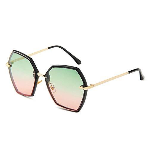 Gosunfly Gafas de sol gafas de sol poligonales de metal anti-ultravioleta gafas de sol de tendencia que cambian de color para mujer