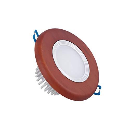 JSY 5 Pack-Downlight Led rode kleur van hout Plafond Verborgen Planken Spotlights Embedded decoratieve Hole Lamp Ceiling Molding Hole Lamp Verzonken verlichting (Color : B(Black wood), Size : 5W)