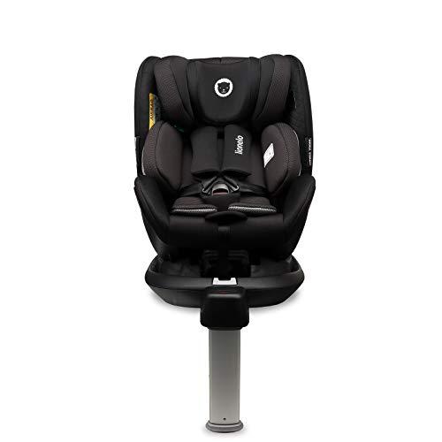 Lionelo Antoon RWF Asiento de seguridad 44 x 55 x 87-132,5 cm Para 0 – 18 kg Para niños 40-105 cm Regulación de la altura del reposacabezas de 10 niveles hacia atrás Dri-Seat SideProtect Toldo