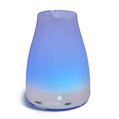 Homeweeks Diffusers, 100ml Colorful Essential Oil Diffuser with Adjustable Mist Mode,Auto Off Aroma Diffuser for Bedroom/Office/Trip (1 Pack)