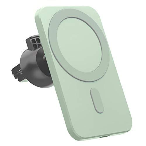 YepYes Cargador inalámbrico de Montaje magnético Verde reemplazo del Soporte inalámbrico de Coche para iPhone 12 Pro Mini MAX MagSafe