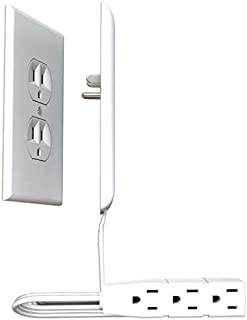 sleek socket - Unmatched Home Décor Around Electrical Outlets. Hide Ugly & Unsafe Plugs & Cords (3 ft, Oversize)
