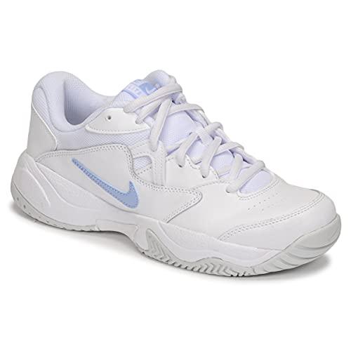 Nike NikeCourt Lite 2, Zapatos de Tenis Mujer, White Aluminum Pure Platinum, 42 EU